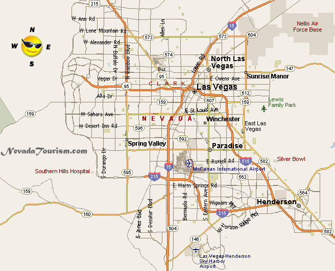 Las Vegas Nevada Map Related Keywords Amp Suggestions  Las