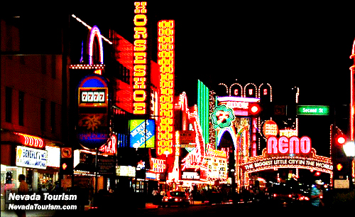 Nevada Attractions – Nevada Tourist Attractions Map