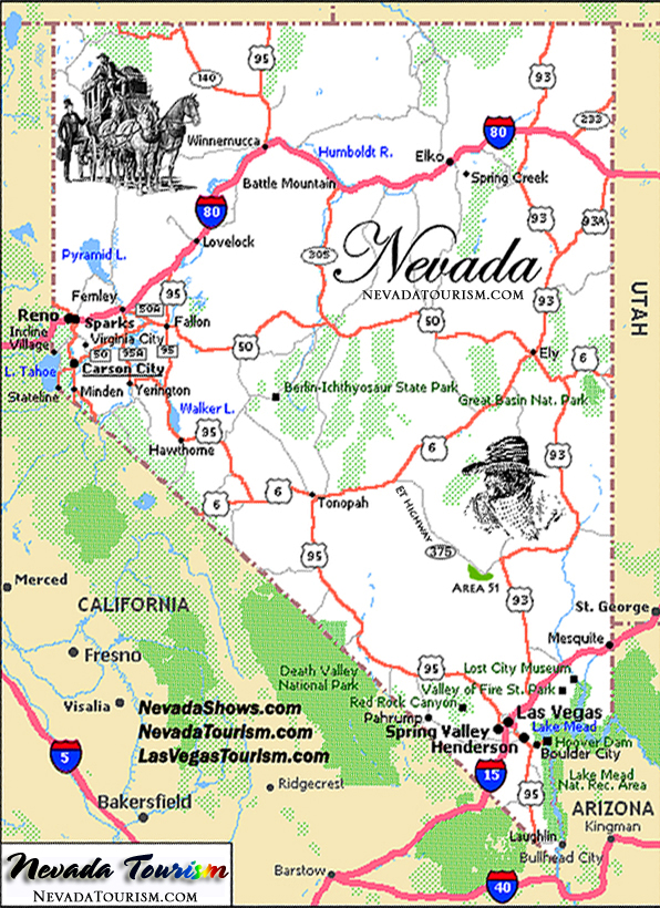 State Of Nevada Map